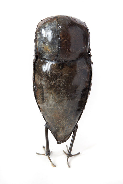 Swahili Recycled Metal Owl Sculptures - Trovati