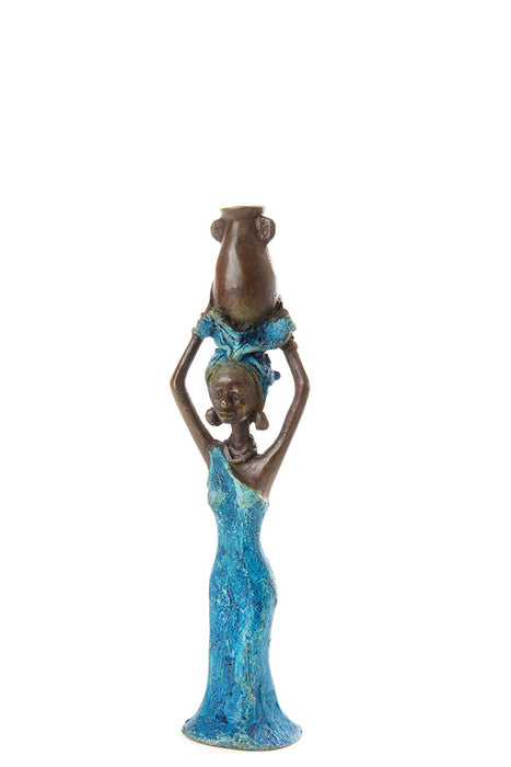Crystal Water Bearing Lady Bronze Sculpture | African | Trovati Studio