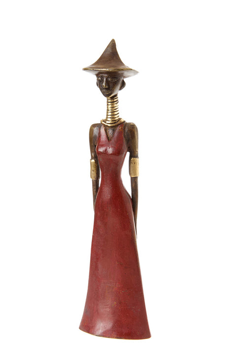 Yaake Abstract Bronze Lady Sculpture | African | Trovati Studio