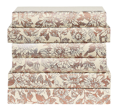 Florals in Rose Gold Decorative Books | E.Lawrence Ltd | Trovati Studio