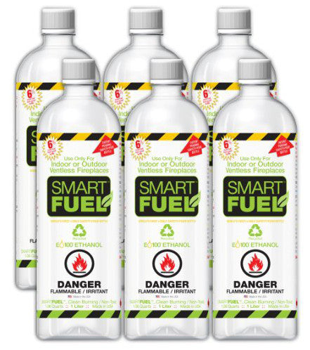 Anywhere Fireplace Bio Ethanol Smart Fuel 6/12 Liter Pack