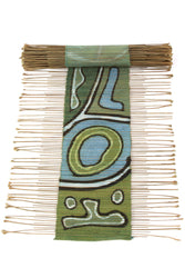 Carnival Twig Table Runner | Swahili African Modern | Blue Green