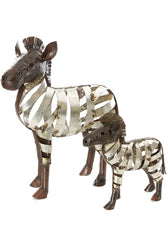 African Recycled Ribbon Zebra Sculpture | Swahili Modern | Trovati Studio