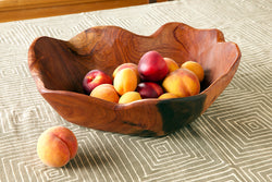 Mahogany Serving Bowl | African Handcrafted | Trovati Studio