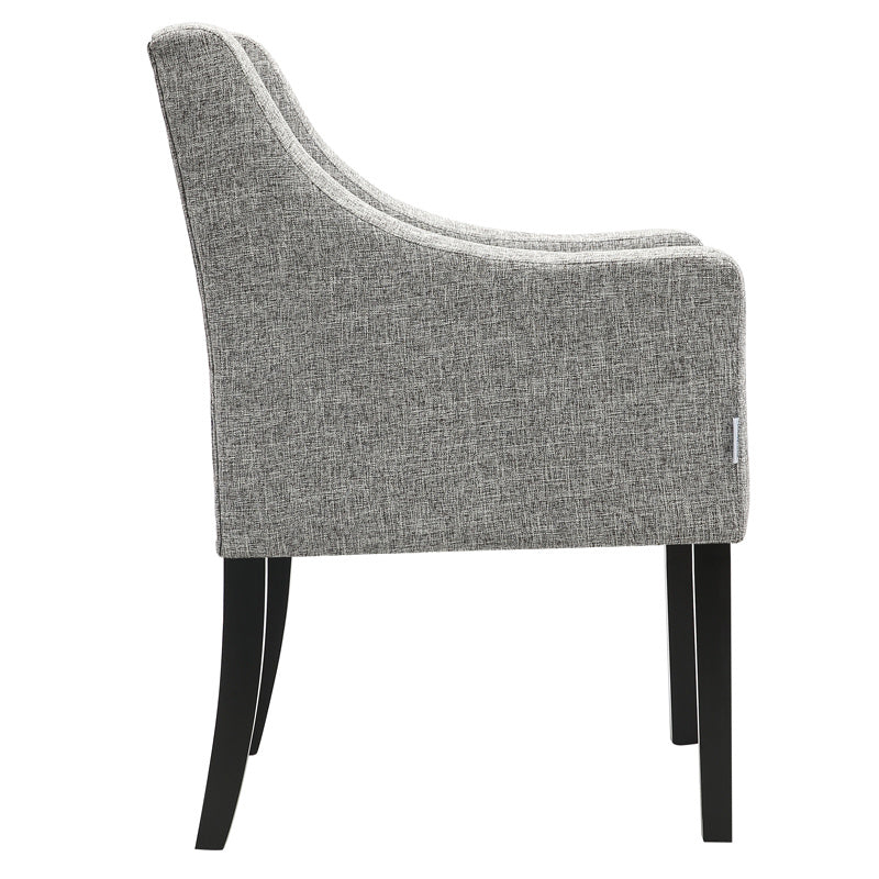 Modern Fabric Button Upholstered Accent Dining Chair Armchair