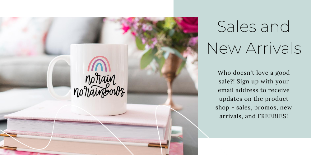Sales and New Arrivals Email Newsletter - Bellascript Designs
