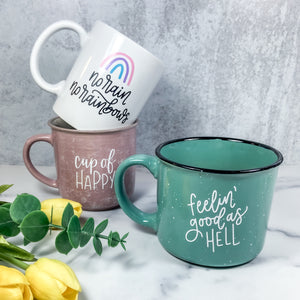 Feelin' Good As Hell Turquoise Campfire Mug