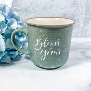 Bloom + Grow Mint Marble Campfire Mug