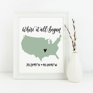 Where It All Began | Hand Lettered Print