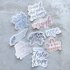 What Would Leslie Knope Do | Waterproof Sticker