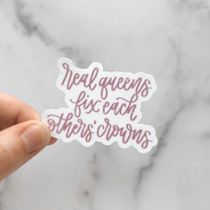 Real Queens Fix Each Others' Crowns | Waterproof Sticker