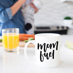 Mom Fuel White Mug
