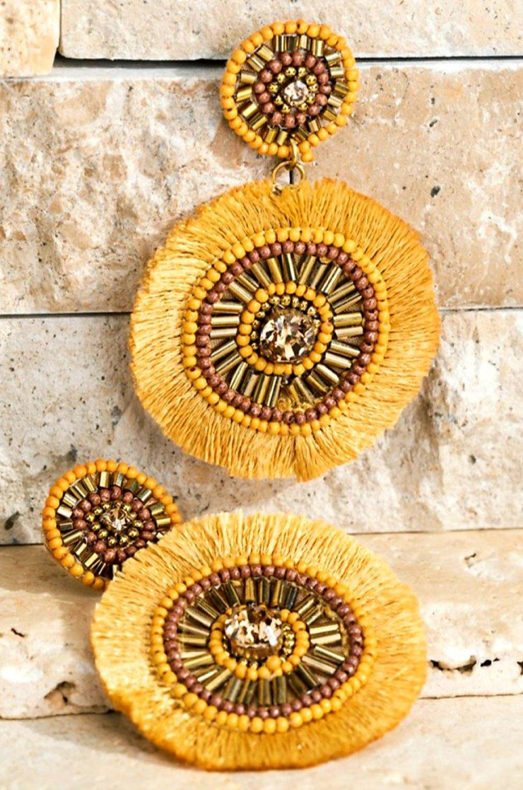 Mustard Statement Earrings - Standout Style Boutique