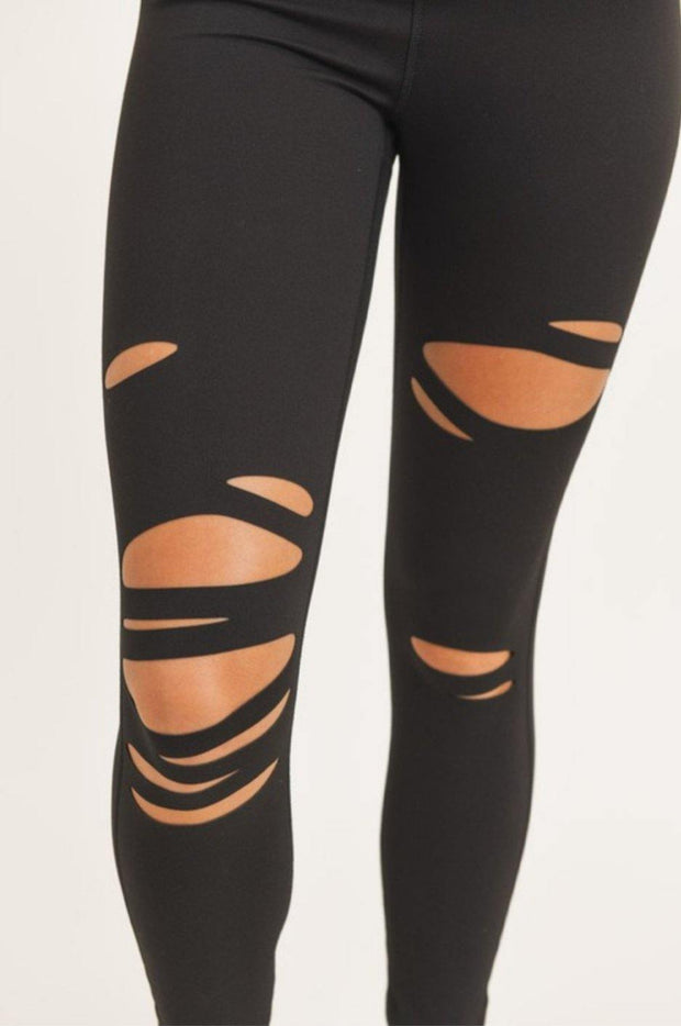 Laser Cut Leggings - Standout Style Boutique