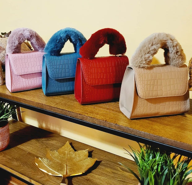 Faux Fur Handbag (Assorted Colors)