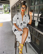 Front Page Shirt Dress (Pre-Order)