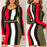 Nora Striped Mini Dress
