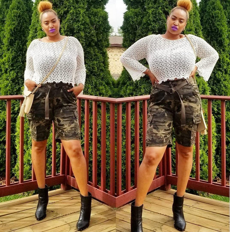Cute in Camo Shorts (Reg + Curvy) - Standout Style Boutique