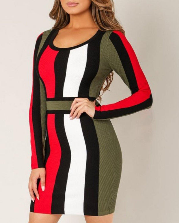 Nora Striped Mini Dress - Standout Style Boutique