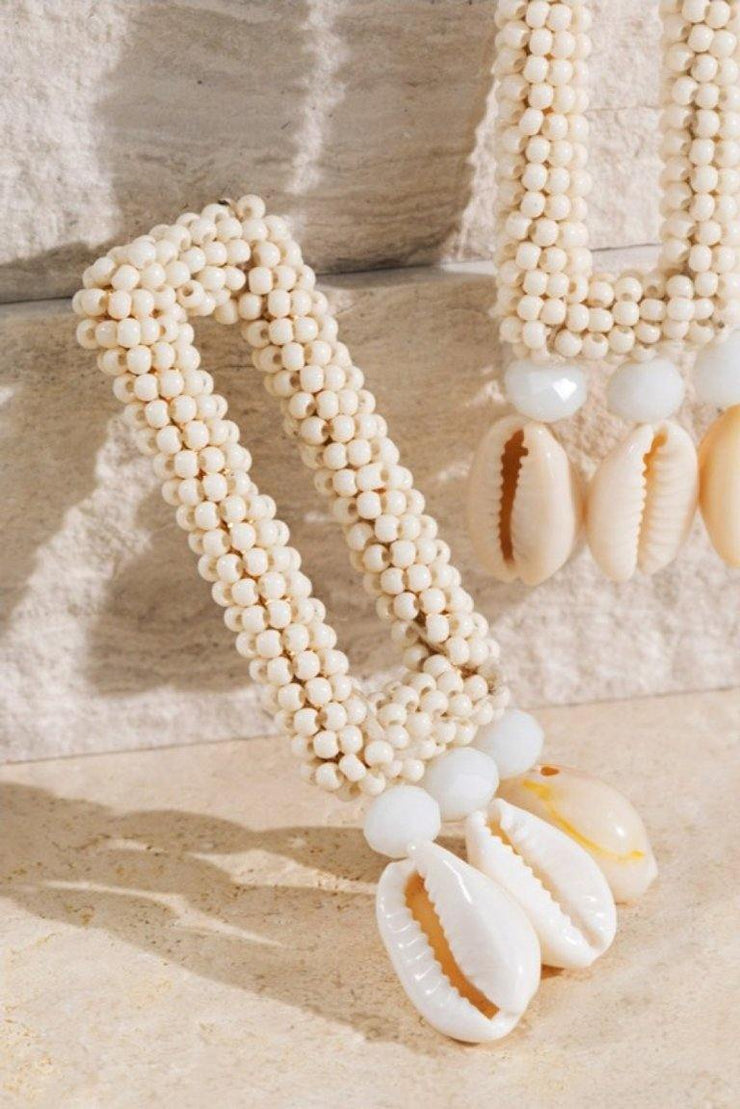 Shell Accented Earrings
