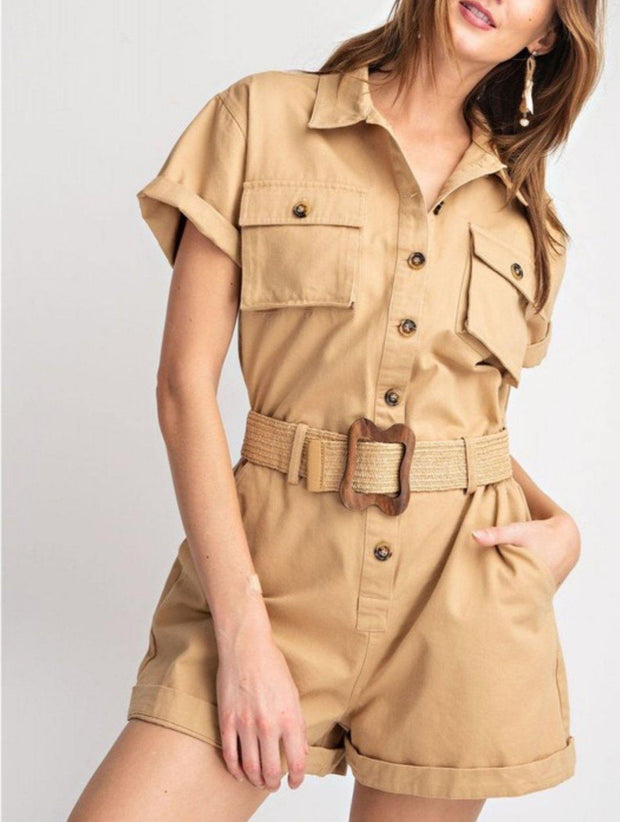 Chic Utility Romper - Standout Style Boutique