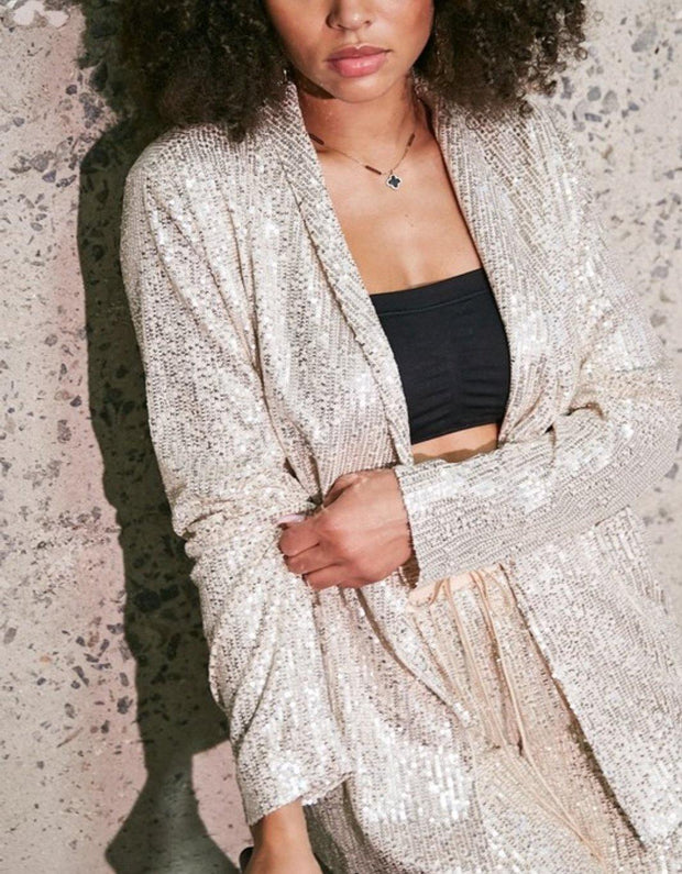 So Icy Sequin Jacket - Standout Style Boutique