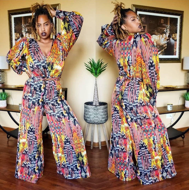 Diahann Belted Jumpsuit - Standout Style Boutique