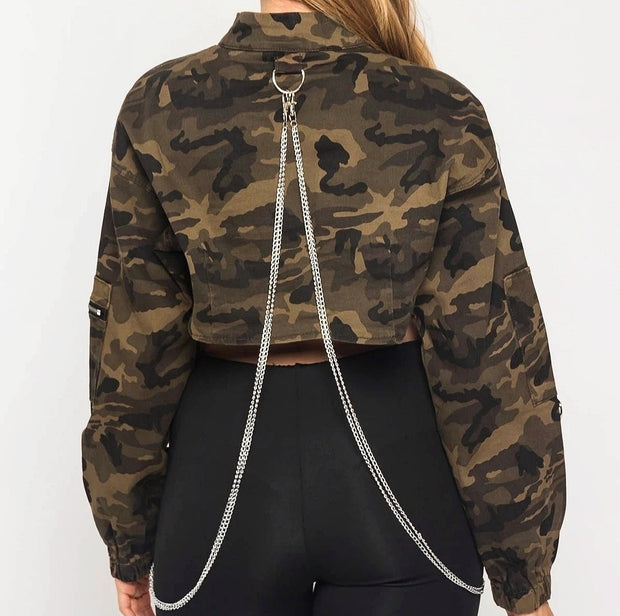 Cropped + Chained Jacket