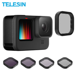 Telesin ND8 ND16 ND32 Cpl Lens Filter Set Aluminium Frame Voor Gopro Hero 9 Action Camera Nd Cpl Lens accessoreis