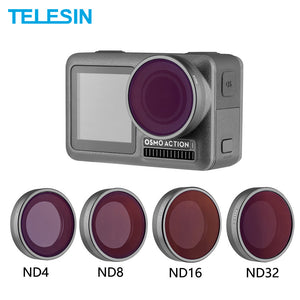 PRO SERIES  Set Lens Neutral Density Filter ND4 ND8 ND16 ND32 voor DJI Osmo Action Camera