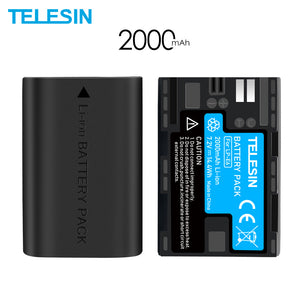 2 Packs Batterij Vervanging Lp E6 LPE6 LP-E6 E6N Batterijen Voor Canon Eos 5DS R 5D Mark Ii 5D Mark Iii 6D 7D 80D 5DS