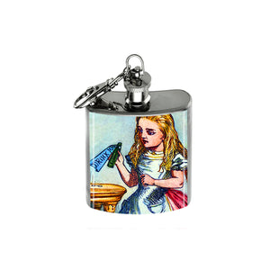 Altered Art Flask - Alice Drink Me - UrbanroseNYC