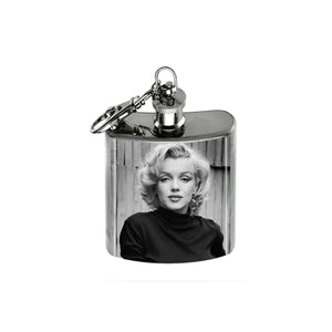 Altered Art Flask - Marilyn Monroe Black & White - UrbanroseNYC