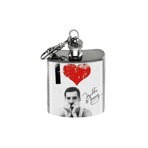Altered Art Flask - Freddie Mercury - UrbanroseNYC