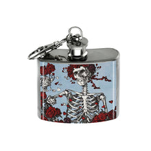 Load image into Gallery viewer, Altered Art Flask - Deadhead Skeleton - UrbanroseNYC
