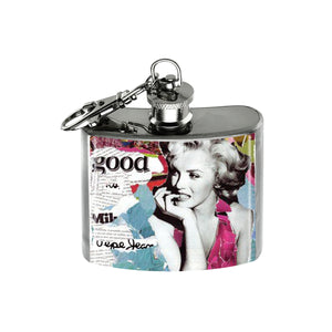 Altered Art Flask - Marilyn Monroe Collage II - UrbanroseNYC