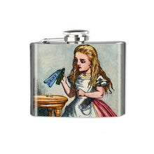 Load image into Gallery viewer, Altered Art Flask - Alice Drink Me - UrbanroseNYC