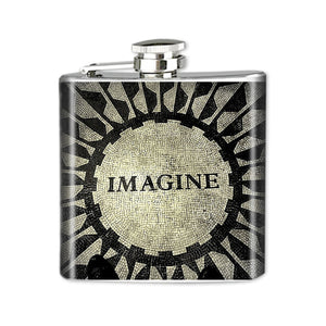 Altered Art Flask - Imagine - UrbanroseNYC