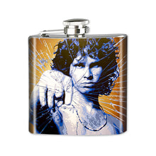 Load image into Gallery viewer, Altered Art Flask - Jim Morrison - UrbanroseNYC
