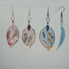 Load and play video in Gallery viewer, Real Leaf Earrings - Gilded