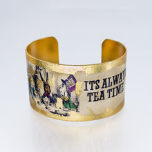 Load image into Gallery viewer, Gilded Cuff Bracelet - Always Tea Time - UrbanroseNYC