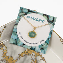 Load image into Gallery viewer, Minimalist Gemstone Pendant - Amazonite - UrbanroseNYC