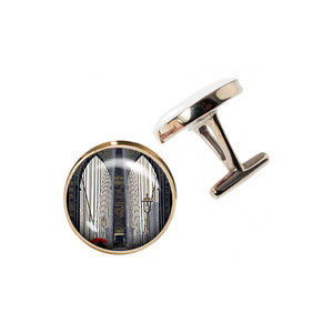 Altered Art Cufflinks - Brooklyn Bridge Arches - UrbanroseNYC