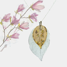 Load image into Gallery viewer, Real Leaf Pendant - Gilded, Double - UrbanroseNYC