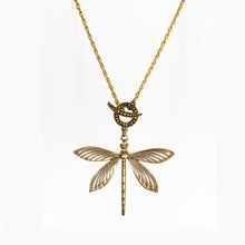 Load image into Gallery viewer, Patina Dragonfly Pendant - UrbanroseNYC