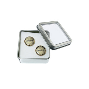 Altered Art Cufflinks - Imagine - UrbanroseNYC