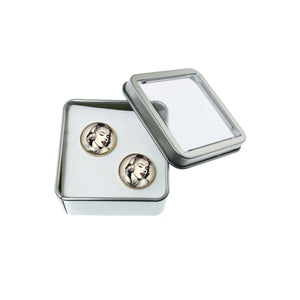 Altered Art Cufflinks - Marilyn Monroe Glamour - UrbanroseNYC