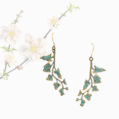 Patina Vine Earrings - UrbanroseNYC