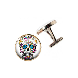 Altered Art Cufflinks - Sugarskull - UrbanroseNYC