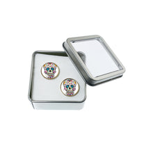 Load image into Gallery viewer, Altered Art Cufflinks - Sugarskull - UrbanroseNYC